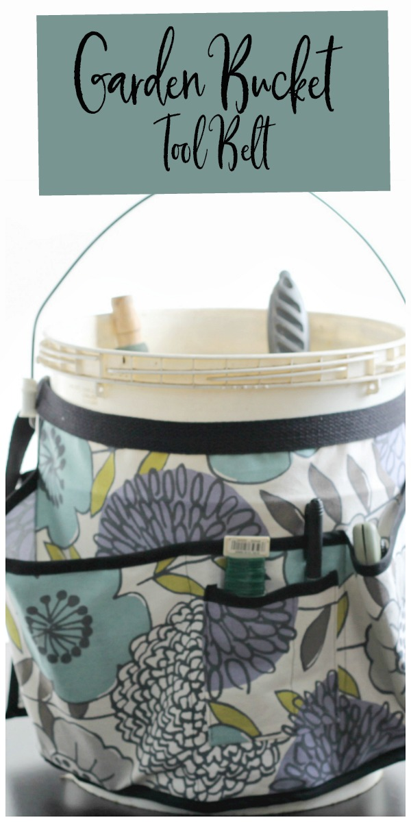 Fabric apron for gardening bucket