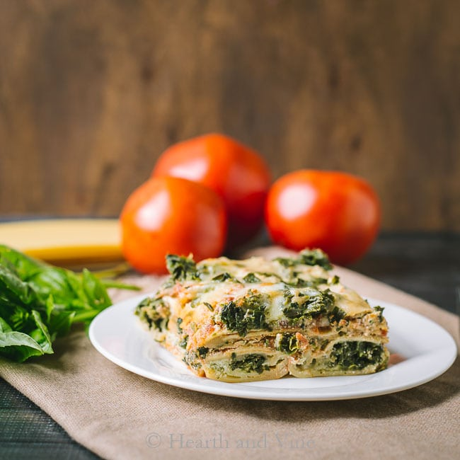 Vegetarian lasagna slice