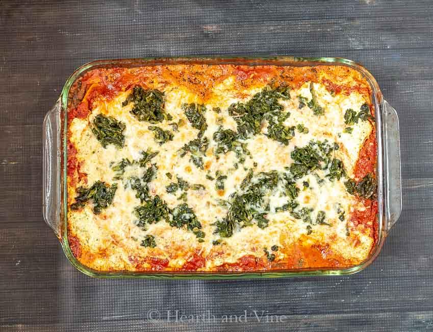 Vegetable lasagna layers