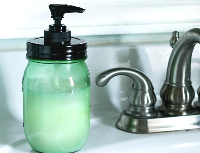 Gardeners hand soap on sink