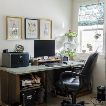 DIY recycled office desk