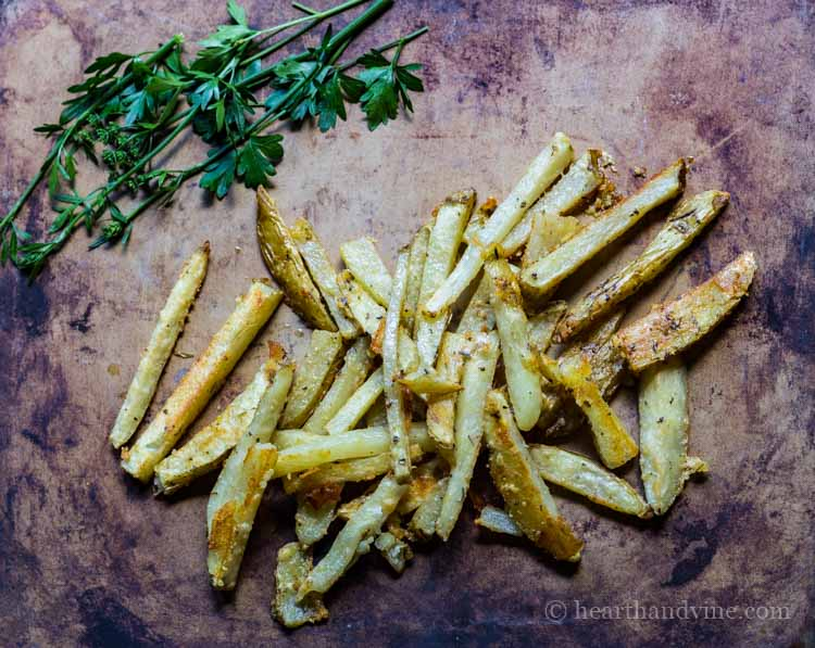 Recipe for easy Parmesan Oven Fries