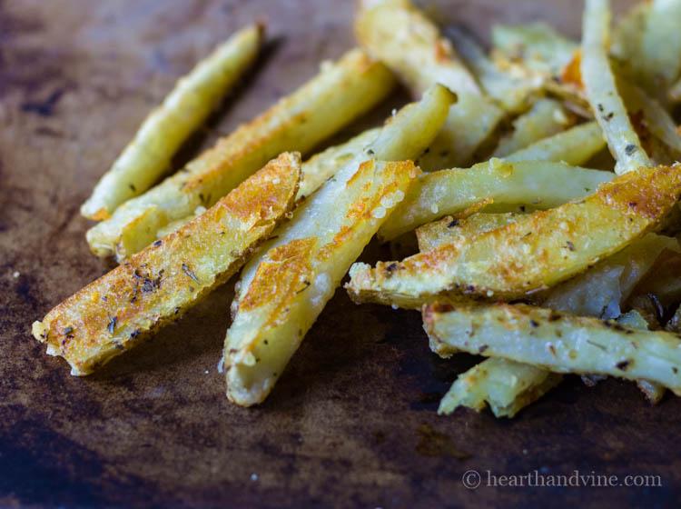 Easy Crispy Parmesan Oven Fries