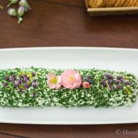 Herb Cheese Spread with Edible Flowers