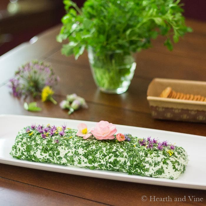 Cream cheese with herbs spread