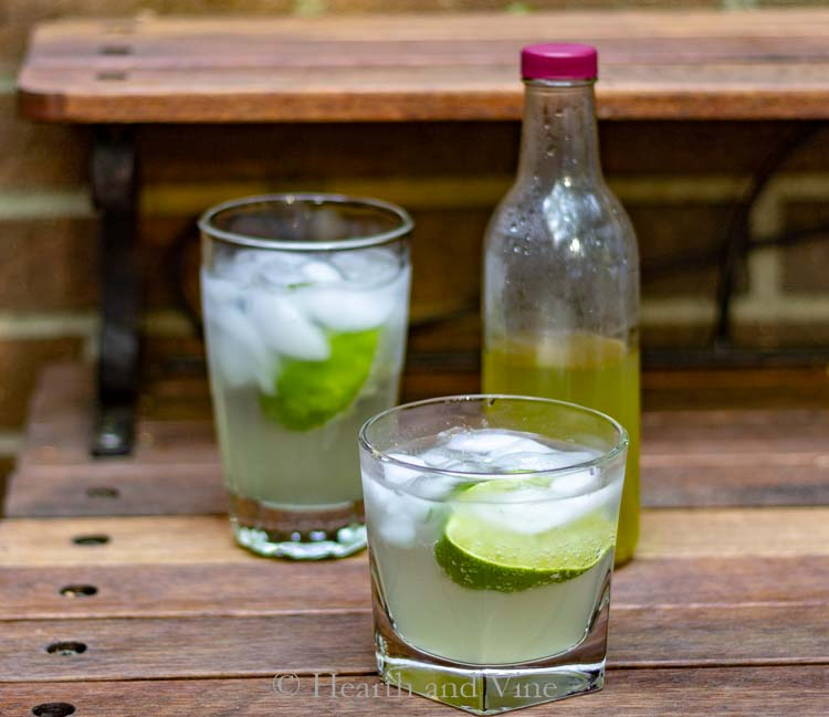 Two glassed of Skinny Moscow Mule Cocktails
