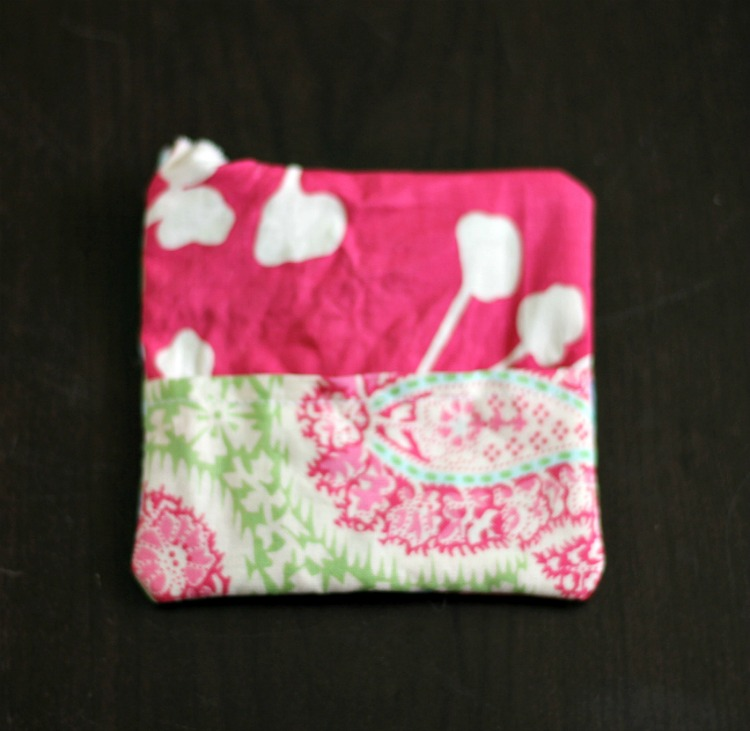 Fabric card holder turned right side out