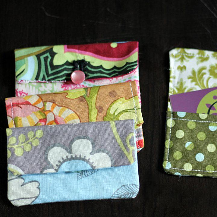 Fabric card holders