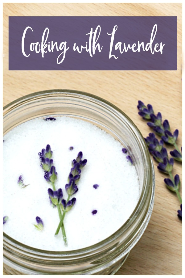 Cooking with lavender sugar