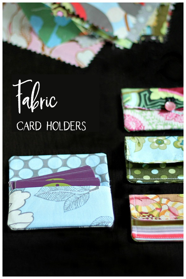Fabric card holder and fabric