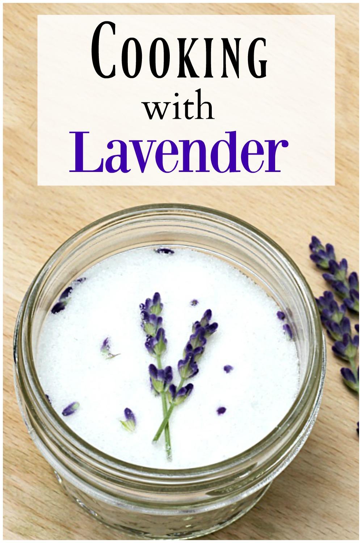 Jar of lavender sugar