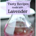 Pitcher of lavender simple syrup