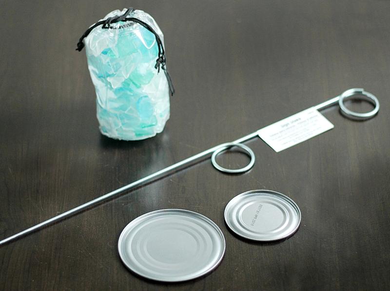 Sea Glass Garden Ornament Materials