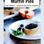 Mini berry pie on a plate with mint