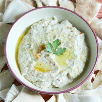 bowl of baba ganoush