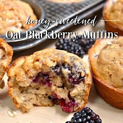 Oat Blackberry Muffins