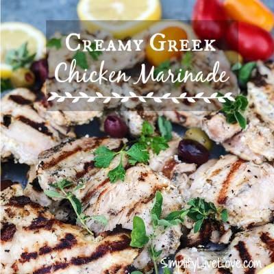 Creamy Greek Chicken Marinade