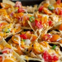 Low Acid Tomato Chicken Nachos