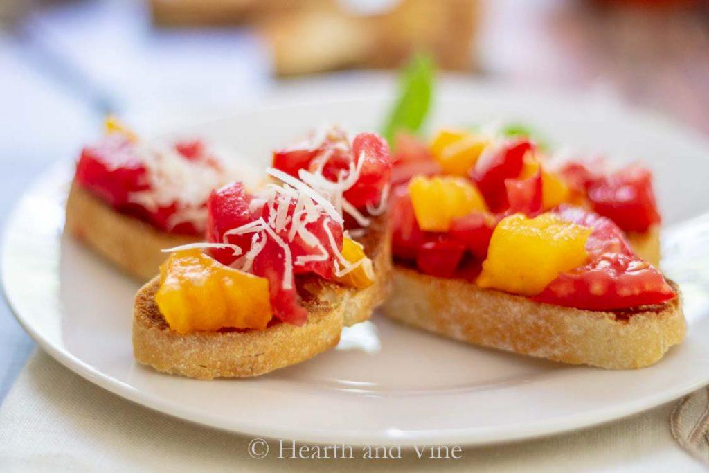 baguette slice summer tomato bruschetta
