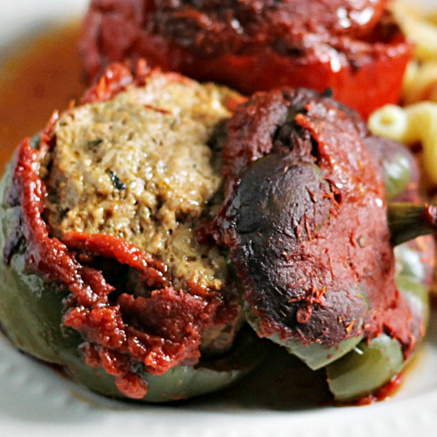 Meatball Stuffed Pepper
