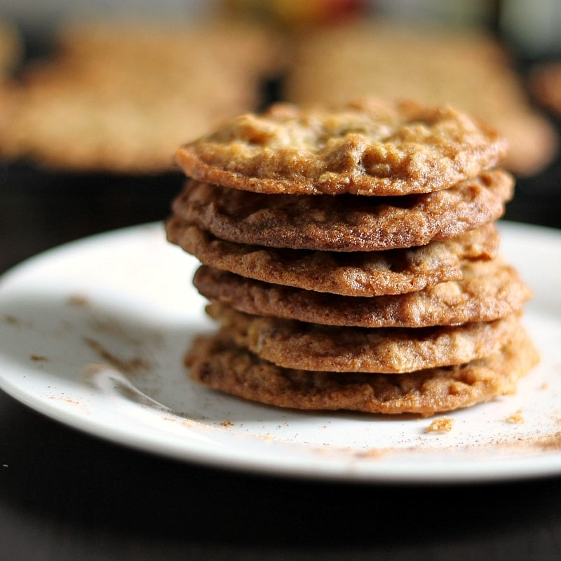 stacked pumpkin spice cookies