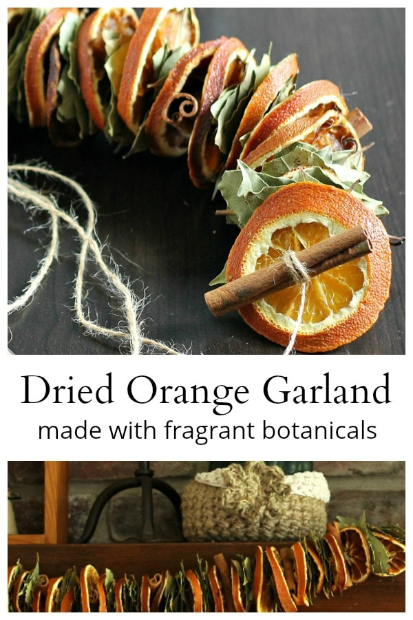 DIY dried orange garland