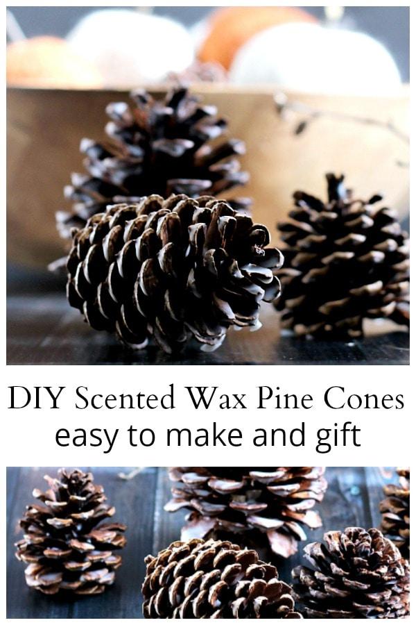 Scented wax pine cones