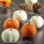 Dryer ball pumpkins