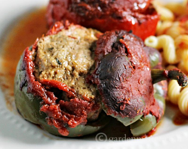 Italian Meatball Stuffed Peppers