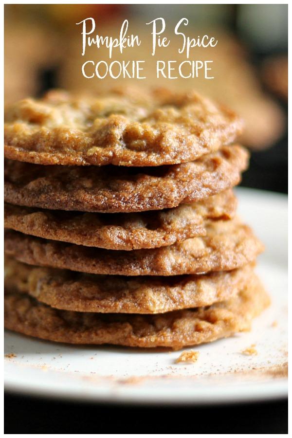 Pumpkin pie spice cookies