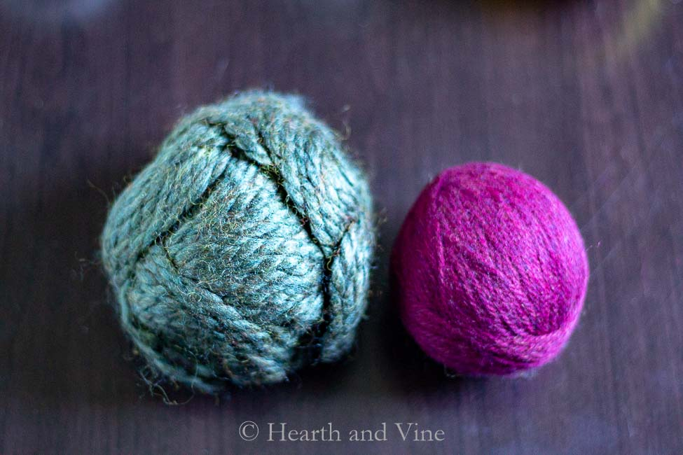 wool blend yarn ball