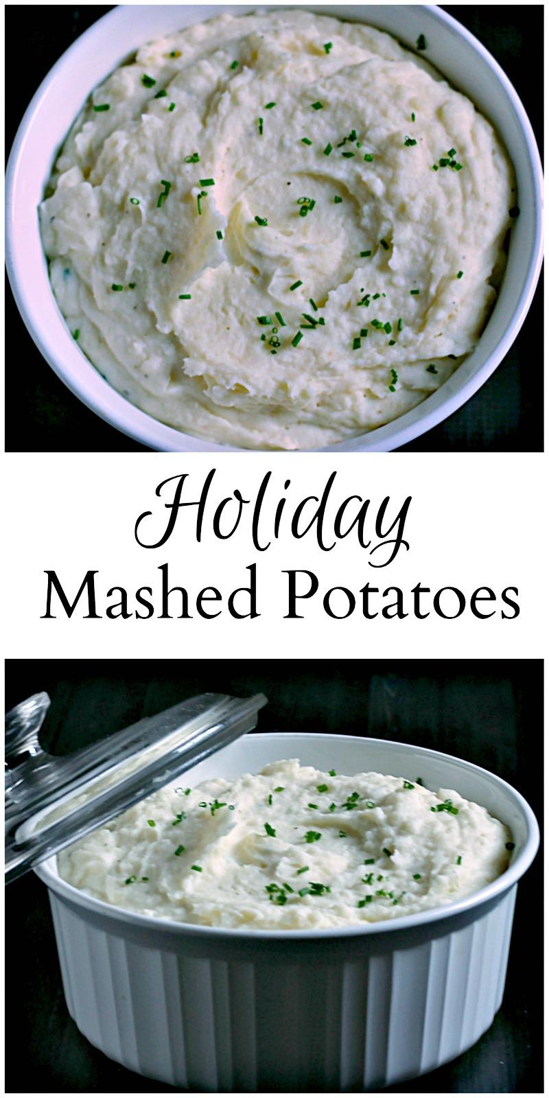 Holiday mashed potato collage