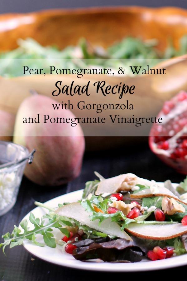 Pear, Pomegranate Salad