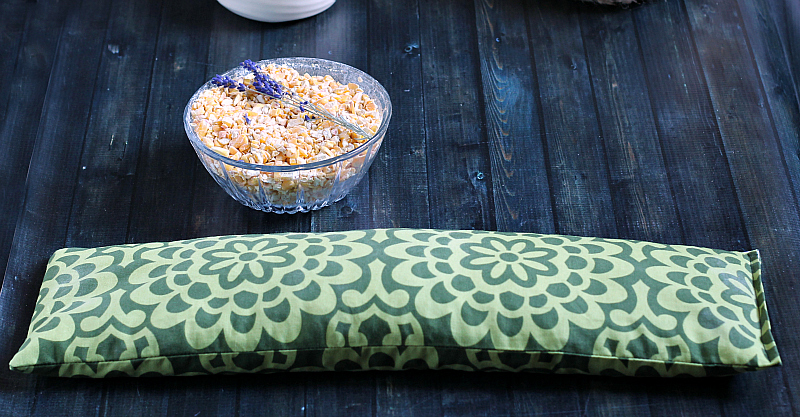 Completed corn bag heating pad