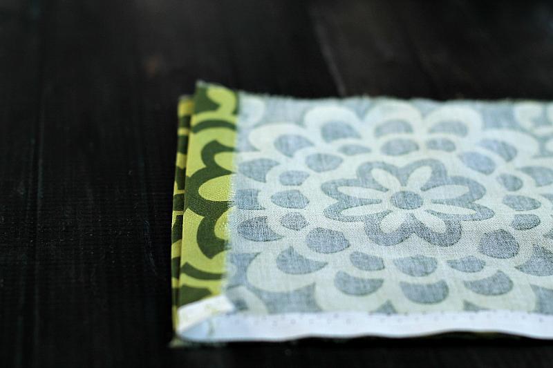Pressed side edge of fabric