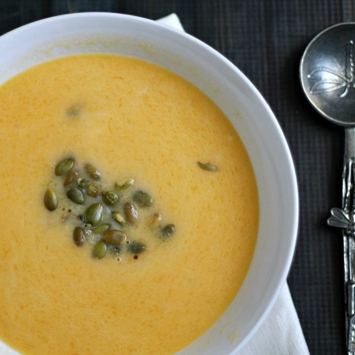 Easy Butternut Squash Soup with Pepitas