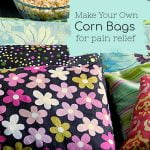 Corn filled fabric bags for heating or freezing to relieve body pain.