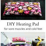 Homemade heating pads with corn