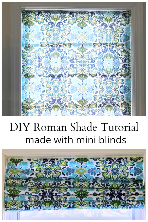 Roman shades made with mini blinds