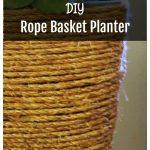 Sisal rope basket