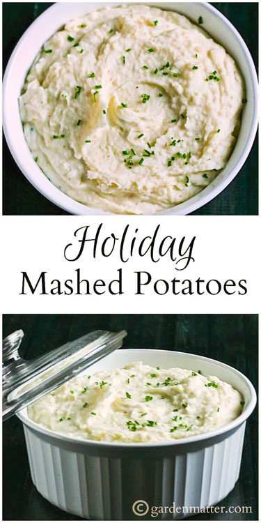 This recipe for holiday mashed potatoes is super easy. It tastes great with or without gravy, and can be made a day ahead, saving you time and worry.