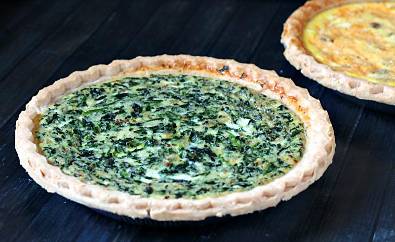 Easy spinach quiche