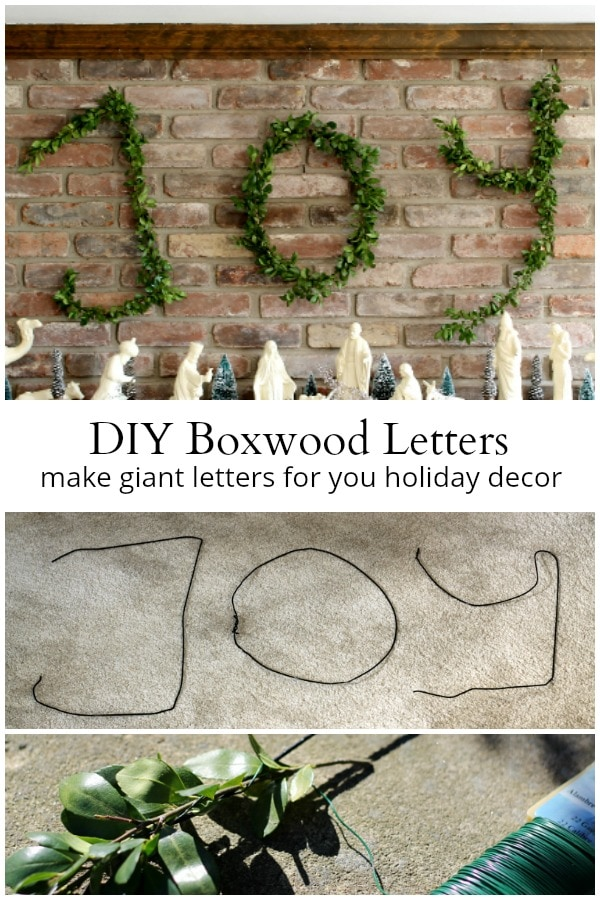 Boxwood Letters collage