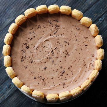 Chocolate charlotte cake
