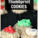 Trio of thumbprint cookies
