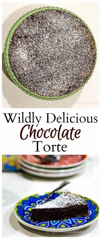 Chocolate Torte collage ~ Chocolate Decadance ~ gardenmatter.com