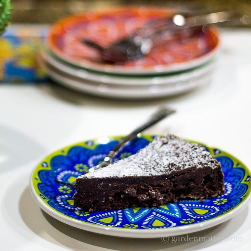 Chocolate slice close ~ Chocolate Decadance ~ gardenmatter.com