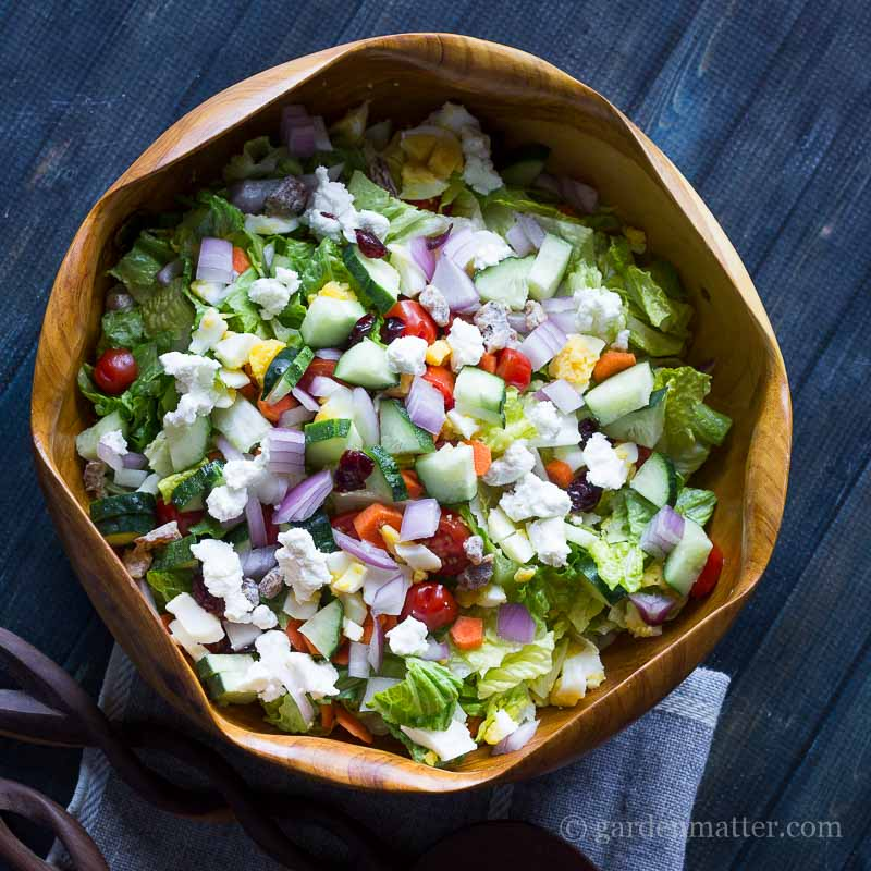 Chopped Salad  ~ gardenmatter.com