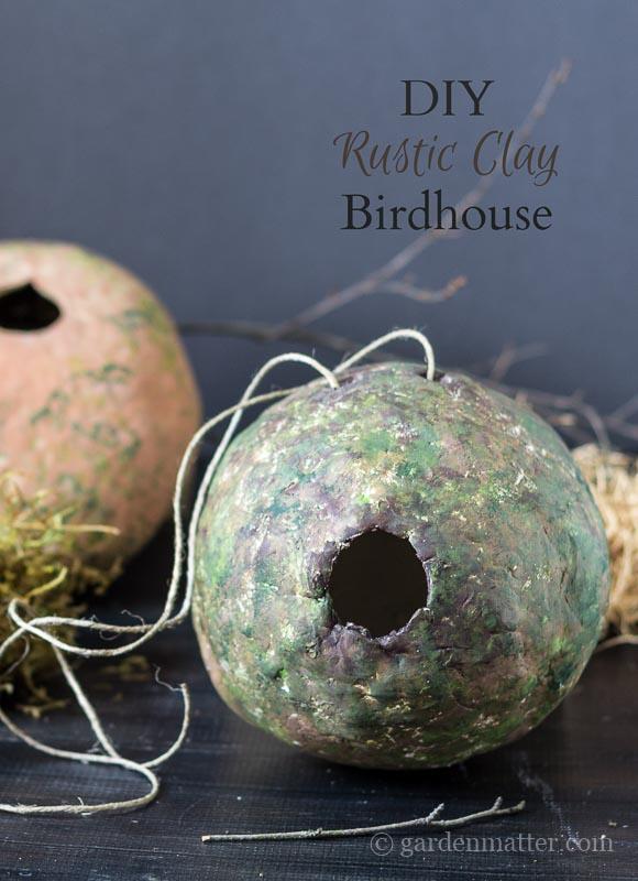 DIY Rustic Clay Birdhouse ~ Clay Birdhouse ~ gardenmatter.com