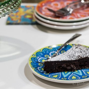 Slice of Chocolate cake ~ Chocolate Decadance ~ gardenmatter.com